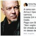 Enrico Ruggeri e il 'rosario': «Gli ho dato un euro, ma non voleva monete». E su Twitter è polemica
