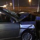 Auto contro muro in curva tre feriti nella notte a Torre del Greco