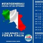Forza Italia, 27 e 28 ottobre Stati Generali a Ischia con Berlusconi