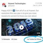 Huawei twitta «buon 2019» da un iPhone: puniti due dipendenti