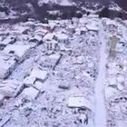 Amatrice innevata dall'alto Video