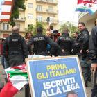«No alla manifestazione dei Cobas», striscioni contro il sindaco e Salvini