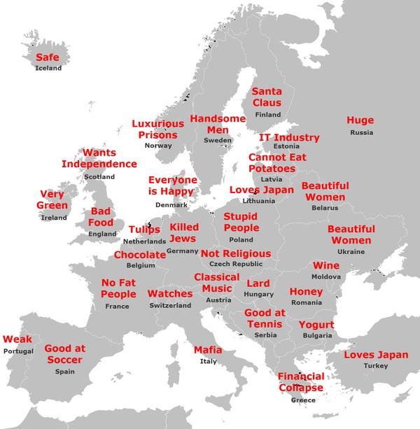 Cartina Giappone In Italiano.Italia Uguale Mafia La Mappa D Europacon I Luoghi Comuni Dei Giapponesi Foto Il Mattino It
