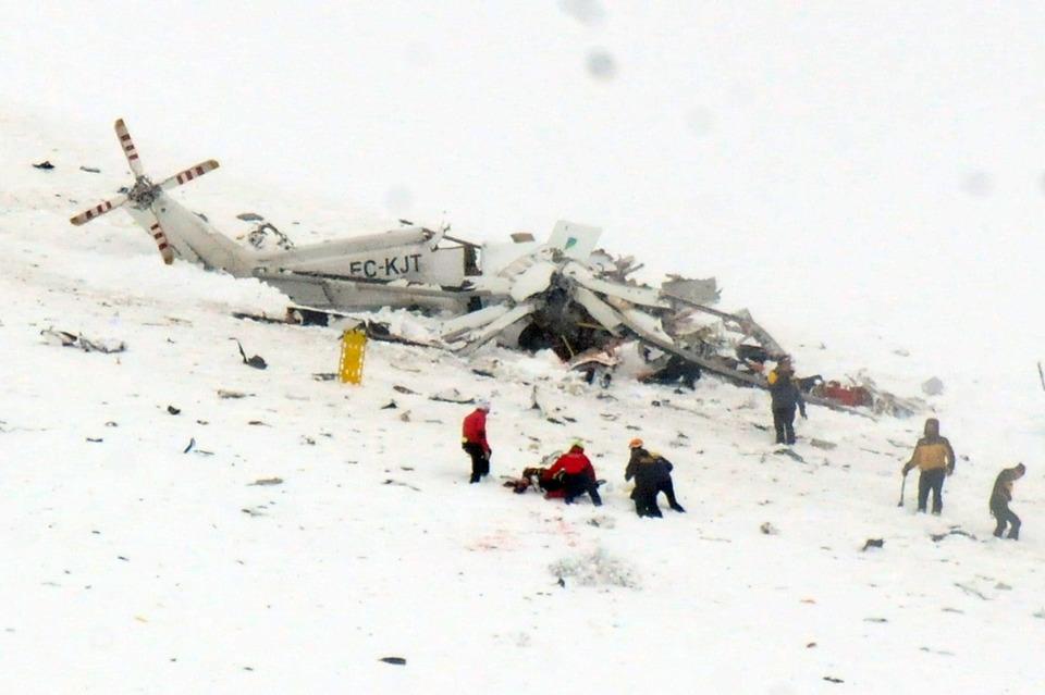 Elicottero 118 Modello : Cade elicottero del sei morti il mattino
