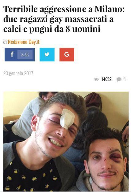 finest selection 837ff 4e7e2 Aggrediti due ragazzi gay all'uscita discoteca   Il Mattino