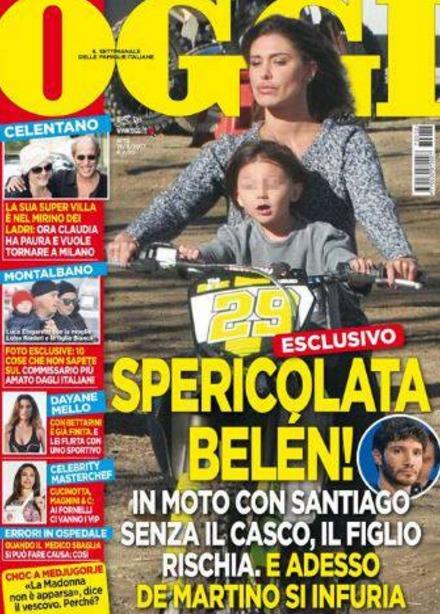 Belen di nuovo in moto con santiago senza casco de for Gente settimanale sito