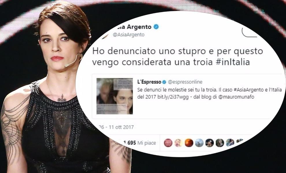 Scandalo Weinstein, Luxuria contro Asia Argento: