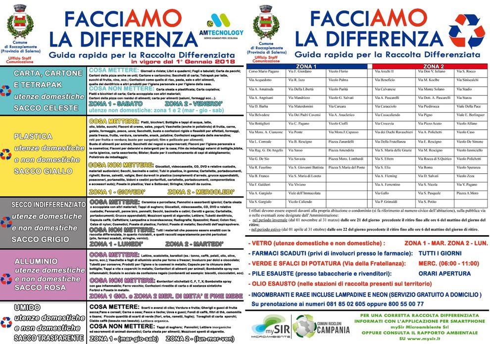 Calendario Raccolta Differenziata Sanremo.Differenziata A Roccapiemonte Dal 1 Gennaio Nuovo