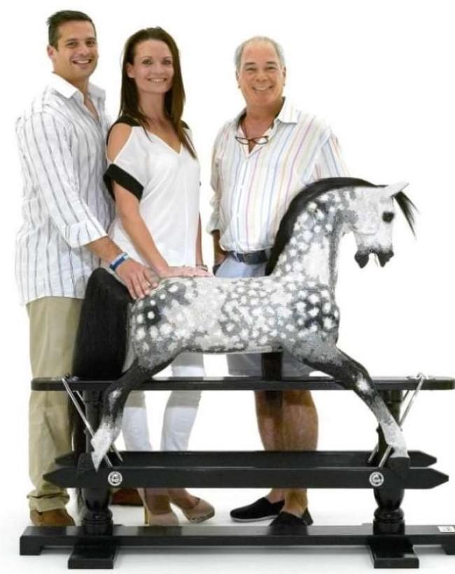 Cavallo A Dondolo Swarovski.Cristallo Swarovski Cavallo A Dondolo Giocattoli Prima Infanzia