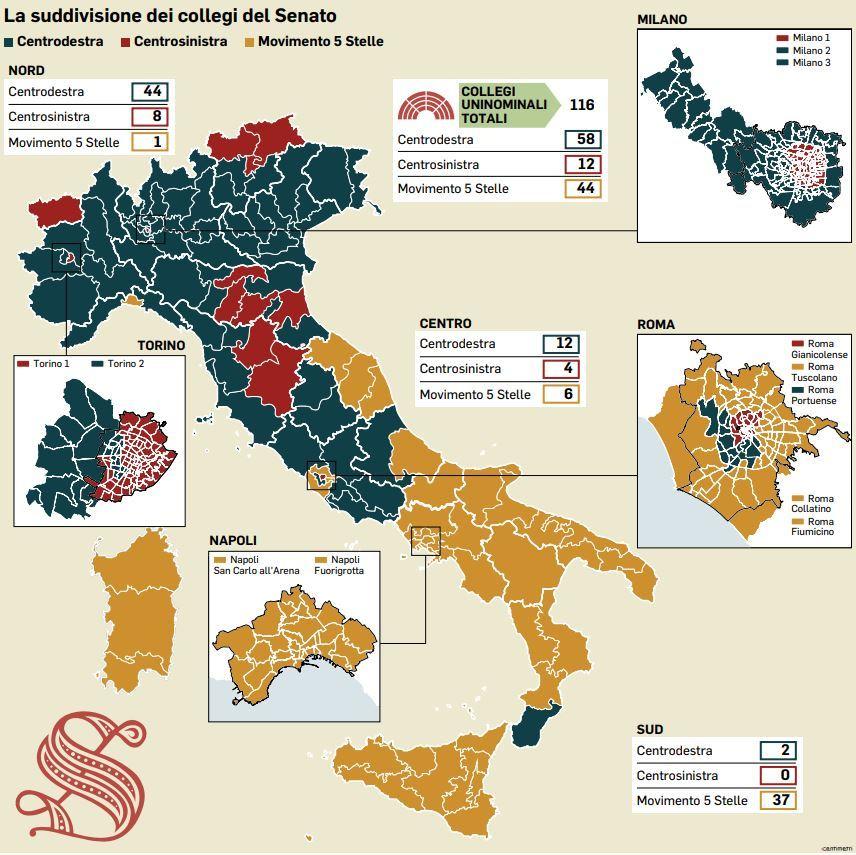 Cartina Del Lazio Con Tutti I Comuni.Elezioni Politiche La Mappadella Nuova Italia Post Voto Il