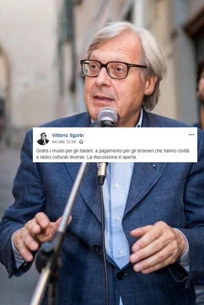 La Provocazione Di Sgarbi Musei Gratis Solo Per Italiani Il Mattino